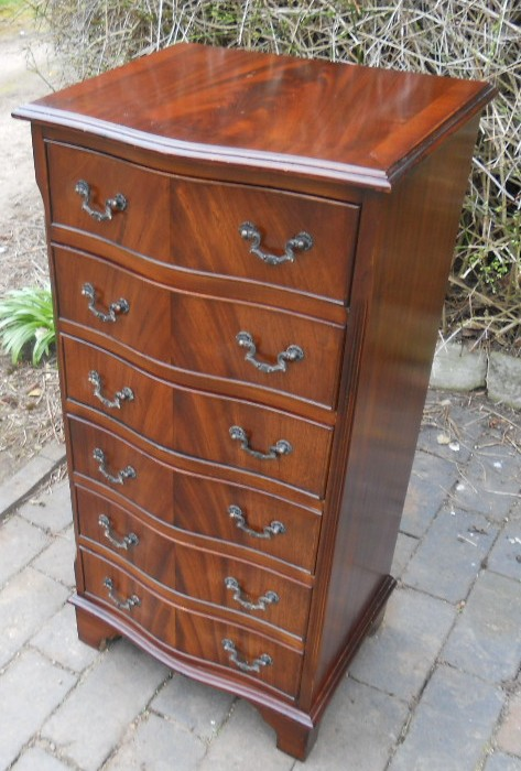 Mahogany Tall Narrow Chest Of Drawers Sold